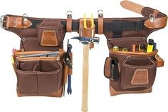 Occidental Leather makes the best leather tool pouch belt system right here in the USA! Buy the Occidental 9855 Adjust-to-Fit Fat Lip Tool Bag Set - Cafe at the lowest prices! Leather Tool Pouches, Tool Belt Pouch, Leather Tool Belt, Leather Tooling, Carpenter Tool Belt, Carpenter Tools, Best Tool Bag, Electrician Tool Belt, Occidental Leather