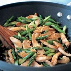 Chicken with Asparagus and Lemongrass