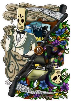 Fan Art - Grim Fandango by LadyRosse.deviantart.com on @DeviantArt