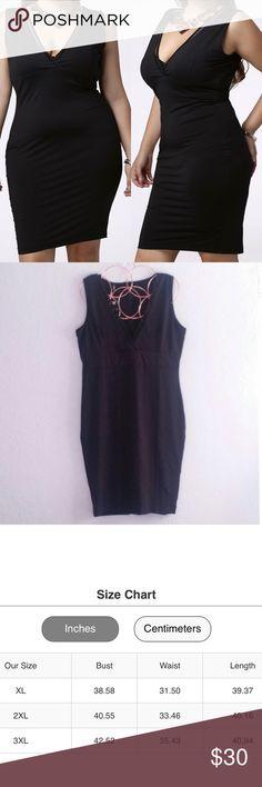 Little Black Dress Size 2XL & 3XL - Size Chart Available To Guide You Plus Size Dresses Midi