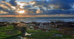 pacific ocean sunset 4k ultra hd wallpaper