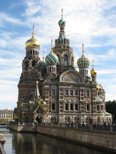 Church on Spilled Blood - St. Petersburg, Russia Also known as the Resurrection Church of Our Saviour. Built on the spot where Tsar Alexander II was assassinated on 1 March 1881.