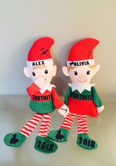 Excited to share this item from my #etsy shop: Personalized Fortnite Elf Boy or Girl doll plush Christmas Elves