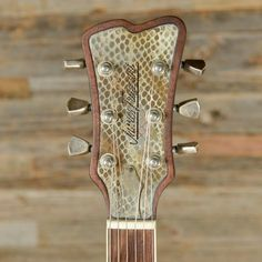 James Trussart rusty snakeskin, with triple pickups and a Bigsby