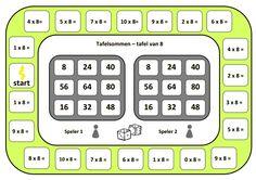 tafelbingo: 2 spelers. De spelers beginnen bij start en gooien met de… Speech Language Therapy, Speech And Language, Math Games, Math Activities, Waldorf Math, Math Multiplication, Early Math, Math For Kids, Math Classroom