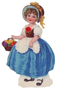 Sentimentalia - Victorian Stickers ~ Glansbilleder > Girls ~ Piger