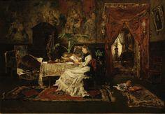 Mihály Munkácsy ~ Paris Interior  (1877) ~ oil on canvas