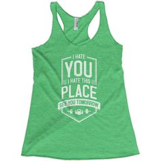 I Hate You Women's Racerback Tank Top – Ministry of Sweat Awesome fitness tank for your next workout.