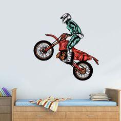 Full Color Wall Decal Mural Sticker Decor Art Poster Gift Dirty Bike Motocross Motocycle Dirt Moto (Col689)