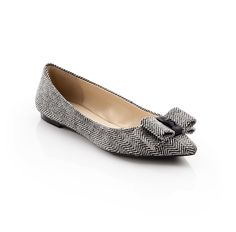 Hillary - ShoeMint    This flat is so cute, I can't decide which I like better, herringbone or wine.