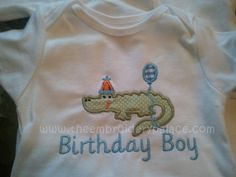 Birthday Boy Applique by TheEmbroideryPalace on Etsy, $22.00