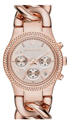 It's all about the rose gold. Michael Dussert Dussert Dussert Dussert Dussert Kors #rosegold #watch #jewelry