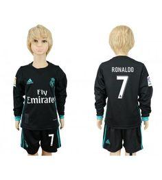Real Madrid Kroos Sec Away Long Sleeves Kid Soccer Club Jersey Real Madrid 11, Real Madrid Cristiano Ronaldo, Kids Soccer, Gareth Bale, Adidas Jacket, Youth, Graphic Sweatshirt, Club, Sweatshirts