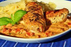 V kuchyni vždy otevřeno ...: Kuřecí s bazalkovo - rajčatovou omáčkou
