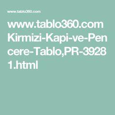 www.tablo360.com Kirmizi-Kapi-ve-Pencere-Tablo,PR-39281.html
