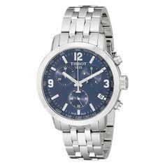 Tissot T055.417.11.047.00 Men's T-Sport PRC 200 Blue Dial Steel Bracelet Chronograph Dive Watch