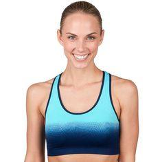 Jockey Sport Bra: Dip-Dye Seamless Medium-Impact Sports Bra 8791, Brt Blue
