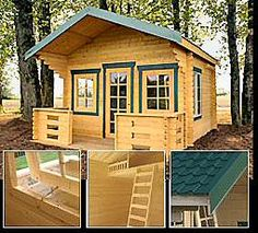 nice small cabin kit - Tiny Log Cabin Kits