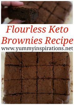 Flourless Keto Brownies Recipe - Easy Low Carb Brownie Recipe with almond flour, stevia and chocolate. Flourless Keto Brownies Recipe – Easy Low Carb Brownie Recipe with almond flour, stevia and chocolate Stevia Desserts, Low Carb Desserts, Gluten Free Desserts, Dessert Recipes, Drink Recipes, Dessert Ideas, Flourless Cake, Flourless Chocolate, Chocolate Desserts