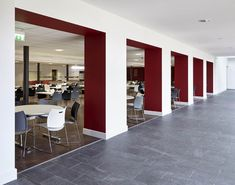 Dining hall image for ideas on school dining hall design - Image of LEH School dining hall designed by Envoplan. Function Hall, Hall Design, Leh, Refurbishment, Design Consultant, School Design, Timeless Design, Free Design, Dining