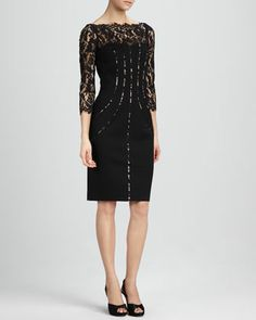 Lace-Top+Cocktail+Dress+by+Aidan+Mattox+at+Neiman+Marcus.dress