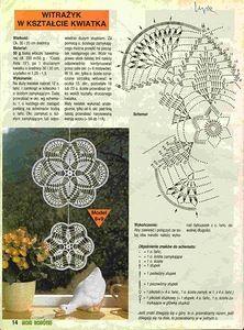 """Photo from album """"Moje robotki on Yandex. Crochet Doily Diagram, Crochet Mandala, Filet Crochet, Crochet Motif, Crochet Doilies, Crochet Round, Thread Crochet, Crochet Scarves, Crochet Stitches"""