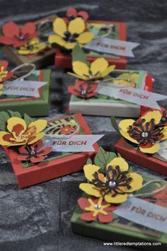 Gastgeschenke, Goodies, botanical, stampin up, Ritter Sport Verpackung