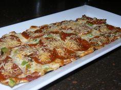 Pepperoni, Green Pepper, Onion, Mushrooms, Mozzarella, Parmesan, and House Marinara on Spicy Italian Flatbread | Yelp