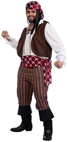 Forum Novelties Mens Shipwrecked Pirate Costume Multi Plus Size    Click for  Special Deals   66d31336fe37