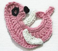 Pattern Crochet Seal Applique by nanasue on Etsy,