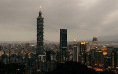 Download wallpapers 4k, Taipei 101, evening city, Taipei, Taiwan, skyscrapers, Xinyi District, China, Asia, Taipei World Financial Center