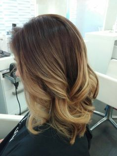 Yesss. Balayage with wella color. Beautiful rich brown