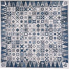 Blue Dear Jane quilt Janiacs beware! Just as a rose of any color, ...