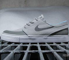 Nike SB Stefan Janoski Low PR SE-Base Grey-Medium Base Grey-Vivid Blue-Black