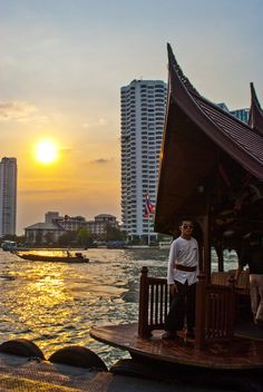 Sunset over the Chao Phraya River - Bangkok, Thailand: There's no better way to get around Bangkok's traffic congestion than to take to the river. Bangkok's river boats are cheap, convenient and the most scenic way to get around to all of the city's best sights.