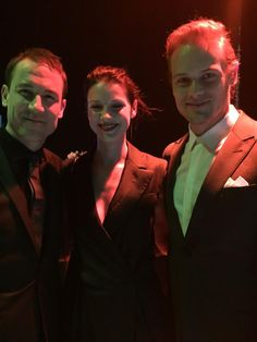 Tobias Menzies, Caitriona Balfe, and Sam Heughan