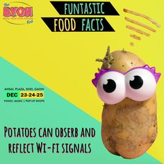 Funtastic Food Fest When your Wi-fi doesn't work, connect to a Potato! Big Meals, Pop Up Shops, Food Facts, Food Festival, Wi Fi, Bff, Cravings, Connect, Potatoes