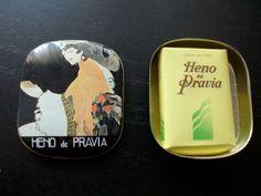 VINTAGE HENO DE PRAVIA SOAP TIN BOX GAL PERFUMERY SPAIN. 6 euros. fer_uy@yahoo.com  http://www.milanuncios.com/otros-coleccionables/pequena-latita-vintage-de-heno-de-pravia-132145406.htm