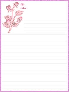 {FREE} Printable Valentineu0027s Day Lined Stationery  Free Lined Stationery
