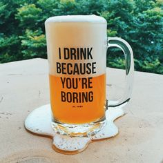 TGIF, bitches! Who's ready for a drank?! Tag someone who needs this beer stein and get yours on JACVANEK.COM. ✨
