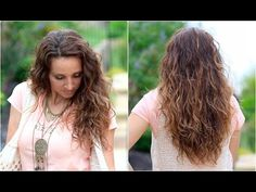 No-Heat Plopping Curls- great for wavy hair too! No Heat Hairstyles, Back To School Hairstyles, Cute Girls Hairstyles, Braided Hairstyles For Wedding, Trendy Hairstyles, Brown Hair Images, Short Hair Images, Curls Without Heat, Curls No Heat