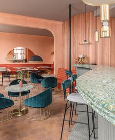 Sella Concept combines Mediterranean hues and textures for London tapas restaurant Omar's Place
