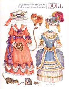 """""""Natalie,"""" paper doll by Evelyn Gathings (2 of 2), Contemporary Doll Magazine"""