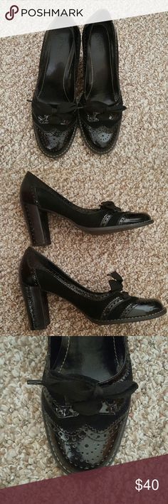 Franco Sarto heeled wing tip SZ 7.5 Vintage styled! Amazing shoes! Great for the office or play! Franco Sarto Shoes Heels