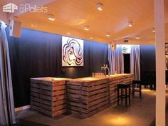 35 Awesome Bars Made Out of Reclaimed Wooden Pallets DIY Pallet Bars