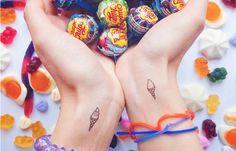 ice cream cone tattoo