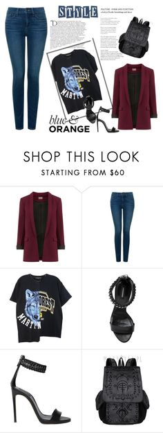 """""""Sem título"""" by mr-1 ❤ liked on Polyvore featuring Balmain, NYDJ and Dsquared2"""