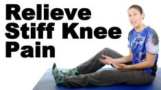 Stiff knees can occur for many different reasons including arthritis, a sprain, a strain, or any other knee injury. These stretches should help. More knee st. Knee Arthritis Exercises, Knee Strengthening Exercises, Back Pain Exercises, Finger Exercises, Stretching Exercises, Stretches For Knees, Stiff Knee, How To Strengthen Knees, Legs