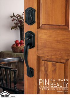 """Baldwin 180MDHxMDL-ARB-SMT Medina Style Handleset with Madrina Interior Lever from the Prestige Collection on Build.com. Enter the Build.com  """"Beauty from the Outside In"""" Pin and Win Sweepstakes for your chance to win this gorgeous handleset! Enter Here: https://www.facebook.com/BuildDotCom/app_404309746314045"""