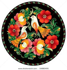 Russian folk art. Love the flowers.